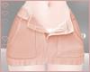 T! Denim Skirt - Orange