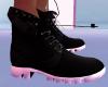 ~V~ Black/White Boots