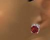 Womans Red Stud Earrings