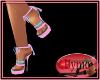 (Y) Pink Blue Heels