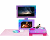 cotton candy fireplace 2
