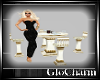 Glo* TableFor4LeatherW/G