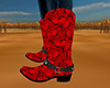 Red Skulls Cowgirl Boots
