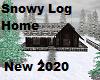 Snowy Log Home New 2020