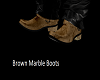 Brown Marble Boots