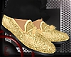 Gold fashion loafers