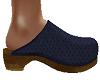 TF* Navy Blue Clogs