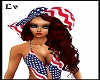 4th of July Hat Red