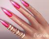 Abry Pink Nails Rings