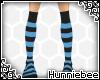[H] Long BlueBlack Socks