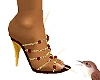 Jewelled Heels Gold Red