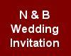 (MR) N & B Wed Invite