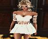 creamy corduroy dress