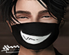Sly smile mask.