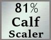 81% Calves Calf Scale MA