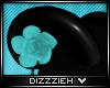 Ð|Turquoise Rose Horns
