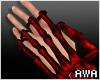 擾 Bone Hand Red L