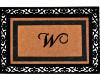 """Monogram """"W"""" Door Mat"""