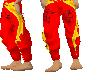 asian red dragon pants