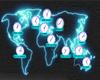 CLOCK WORLDMAP NEON