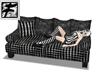 ~F~ BlkNwhite Weave Sofa