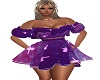 purple cross babydoll