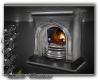 Grey metal fireplace