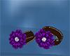 purple black bracelets