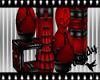 Dark Rouge Vase Display