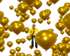 gold balloons M/F
