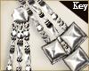 (Key)Boho silver earring