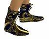 W Blue Gold Shoe