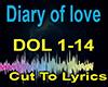 Diary of love  .Lyrics