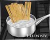 H. Cooking Spaghetti