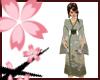 Nya~ Green Rose Kimono