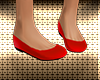 Red Pretty Flat Shoes