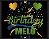 MELO birthday balloons