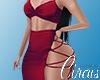 C` Red Freya Dress XXL