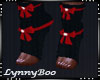 *TJ Black Red Socks