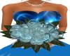 wedding bouquet blue ros
