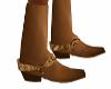Cowboy Tan Suede Boots