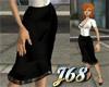 J68 Classic Black Skirt