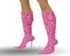 pink metalic boots