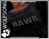 !WS Emo Rawr Crop Top