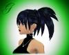 black/royalblue hair