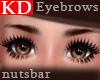 (n) KD dark brown brows