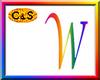 C&S Rainbow Letter W