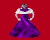 Purple & White Silk Gown
