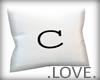 .LOVE. Letter c Pillo