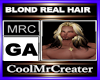 BLOND REAL HAIR